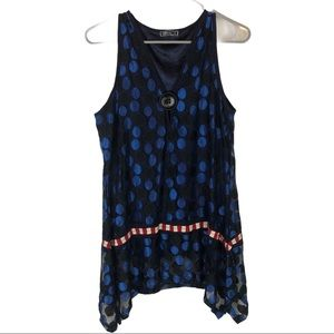 ASTER by Firmiana M Tunic TOP Sleeveless Artsy